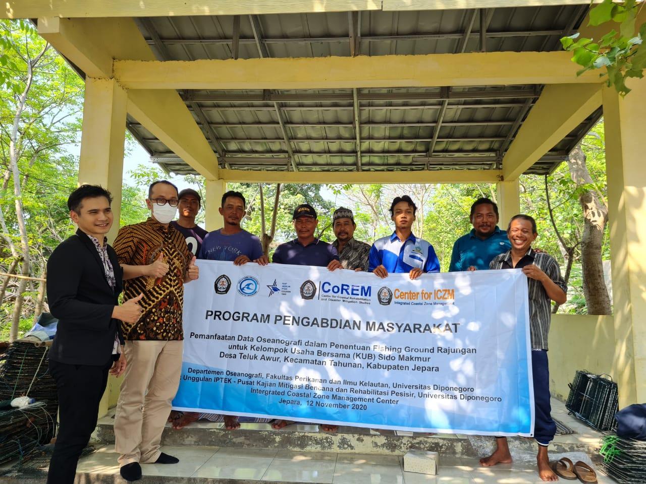 Pemanfaatan Data Oseanografi dalam Penentuan Fishing Ground Rajungan untuk KUB Sido Makmur dan KUB Jasa Laut, Desa Teluk Awur, Kecamatan Tahunan, Kabupaten Jepara